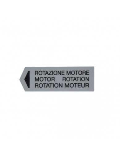 Mazzer motor rotation sticker
