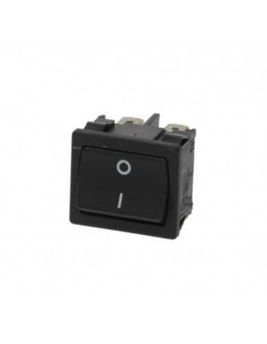 Black bipolar switch 10A 250V