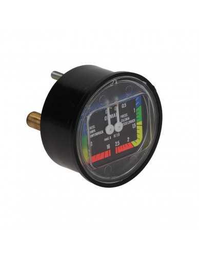Boiler pumpe manometer D 63 0-2.5 0-16 bar