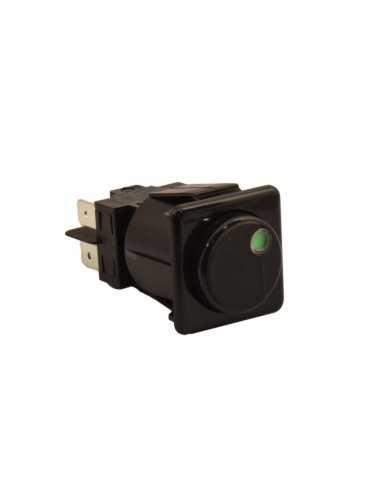 Black push switch 16A 250V