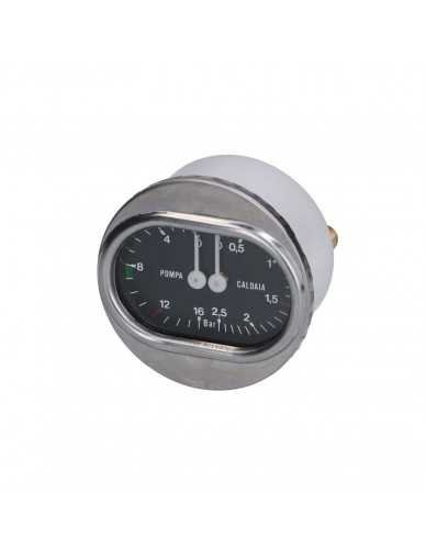 Spaziale kessel und pumpe drückmesser 0-2.5 / 0-16 bar