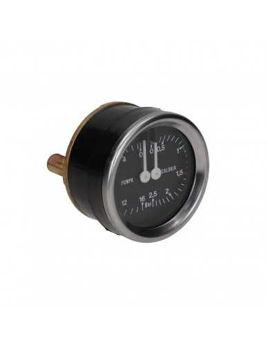 Boiler en pomp drukmeter 0-2.5 / 0-16 bar