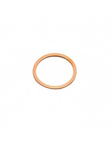 Flat copper gasket 28x24x1mm