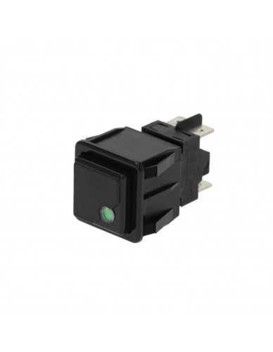 Interruptor bipolar vibiemme negro 250V