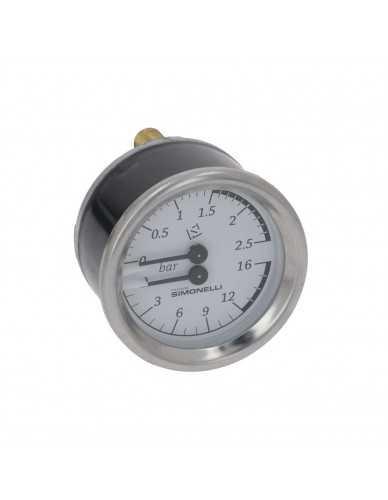 Nuova Simonelli drukmeter 0-2.5 / 0-16bar