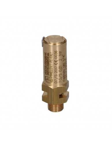 "Válvula de seguridad 1/4 ""M 2.0 bar CE / PED"