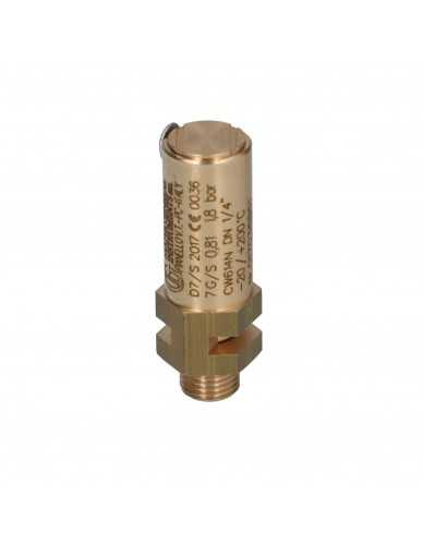 """Veiligheidsventiel 1/4"""" 1,8 bar CE PED gecertificeerd"""