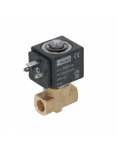 "Parker 2 way solenoid valve 1/4"" 1/4"" 110V 50/60Hz"