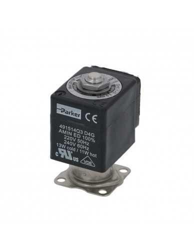 Parker 2 way stainless steel solenoid valve 220/240V 50/60Hz Dn2.5mm