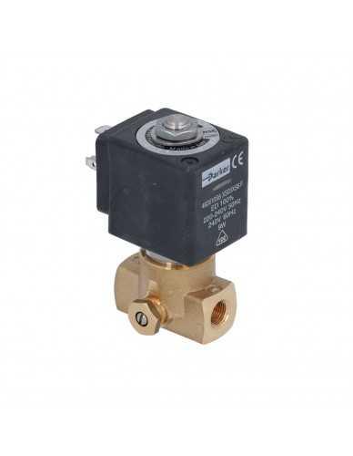 """Lucifer solenoid valve 2 ways 1/8"""" 1/8"""" 220/240V 50/60Hz with flow regulation"""