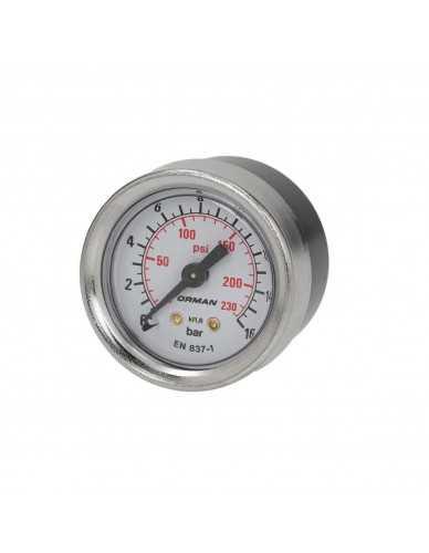 Rancilio pomp manometer 0 - 16 bar