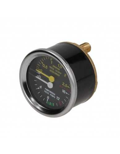La Cimbali ketel en pomp manometer 0 - 2.5 / 0 -16 bar