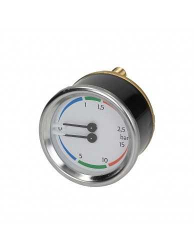 Nuova Simonelli ketel pomp manometer 0-2.5 / 0-15 bar