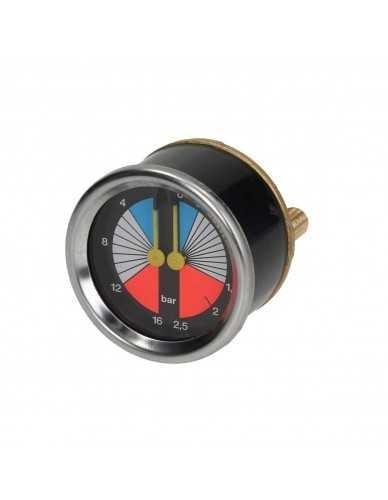 Double boiler pump manometer 0 - 2.5 / 0 - 16 bar