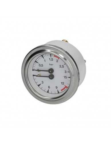 Double scale manometer 0 - 3 bar / 0 - 15 bar
