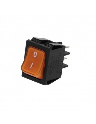 Rocker switch 230V orange