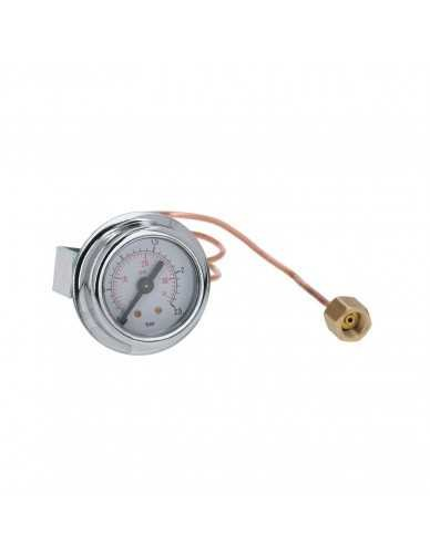 Boiler pressure gauge ø41mm 0-2.5bar with capillar