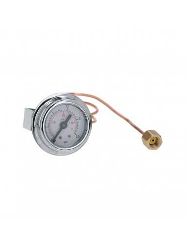 Ketel manometer ø41mm 0-2.5bar met capillair