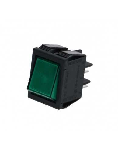 Bipolair switch green 16A 250V