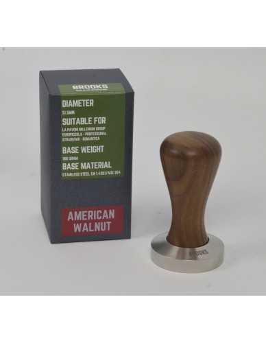 Pavoni millenium Tamper 51,5 mm amerikanischer Nussbaum