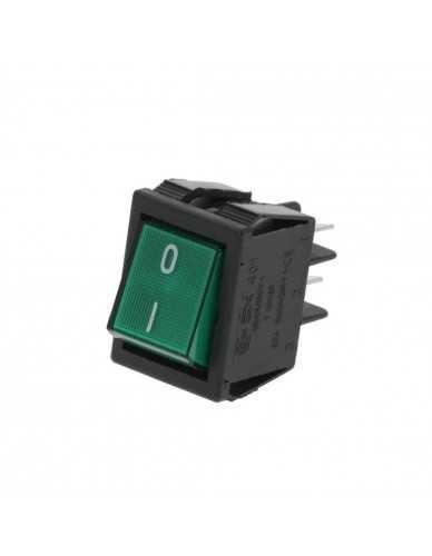 Schalter grun on/off 30x22mm