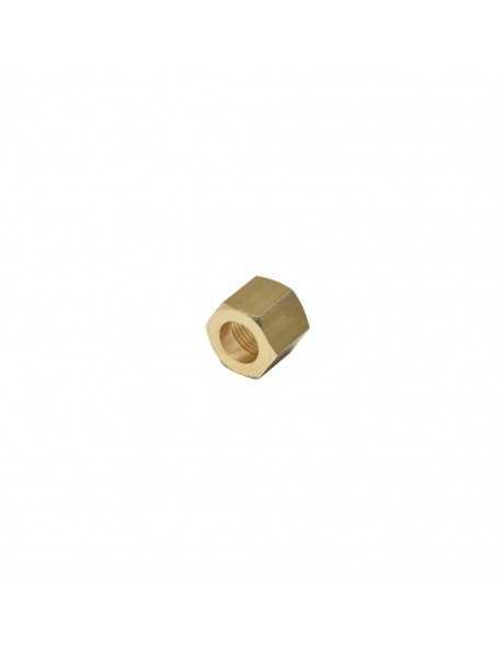 Messing moer 1/8 voor 6mm soldeer fitting