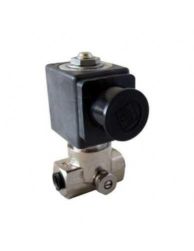 "Lucifer solenoid valve 2 ways 1/8"" 1/8"" 24V AC with flow regulator"