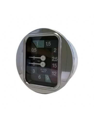 Faema pomp boiler manometer D.63 0-2.5 0-15 bar