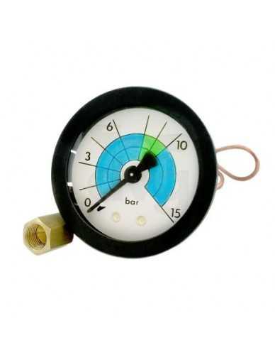 Vibiemme pumpe manometer mit kapillarschlauch 0 - 15 Bar