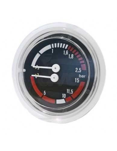 Wega Manometer kessel pumpe 0-2.5 / 0-15 bar