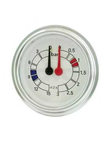 Brasilia Kesselpumpenmanometer 0-3 / 0-15