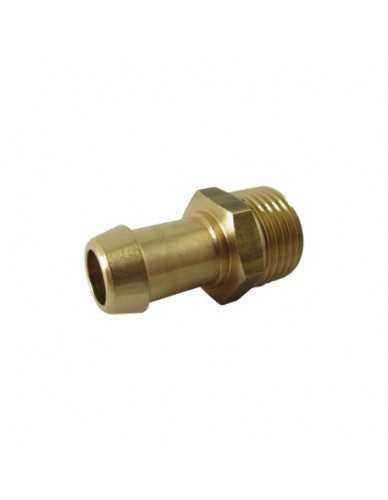 "Messing slang connector 1/2"" M 14mm"