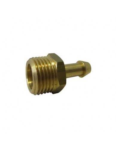 "Messing slang connector 1/2"" M dia 8mm"