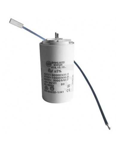 Condensador 8μF 450V con cables