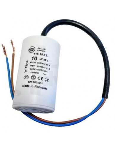 Condensator 10μF 450V met kabels