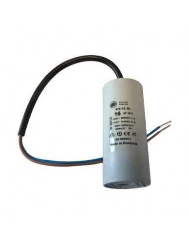Condensator 16μF 450V met kabel