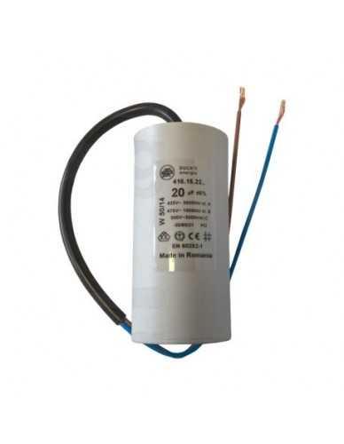 Condensador 20μF 450V con cable