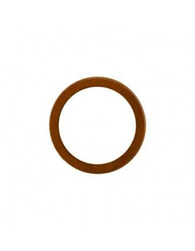 Flat copper gasket 27x21x1mm 1/2""