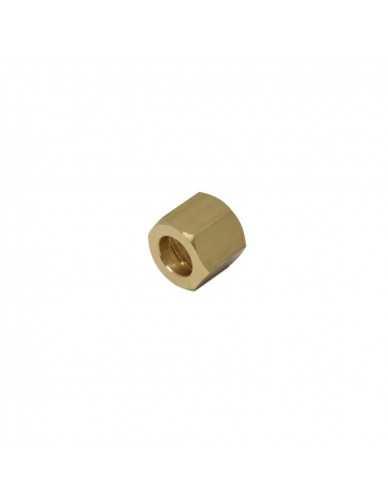 Messing moer 1/4 voor 10mm soldeer fitting