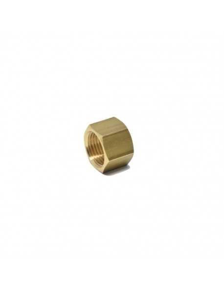 Messing moer 1/2 voor 14mm soldeer fitting