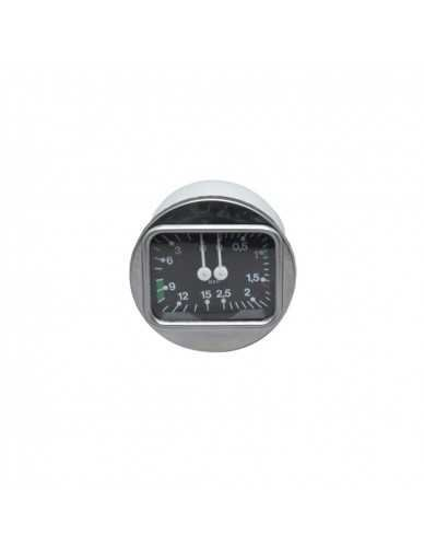 Brasilia ketel en pomp manometer 0-3 / 0-15 dia 70 mm