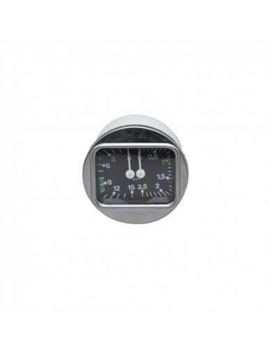 Manometro pompa caldaia Brasilia 0-3 / 0-15 dia 70 mm