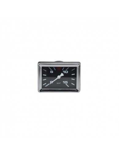 Gaggia rectangular manometer 0 - 15 pump