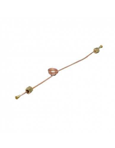 Koperen capillair L.500 mm D.1,27X2,5 spiraal 1/8F 1/8F