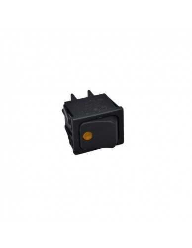 Orange pilot light bipolar switch 16A 250V