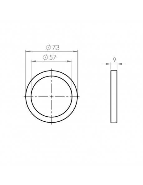 Astoria Wega portafilter gasket 73x57x9mm
