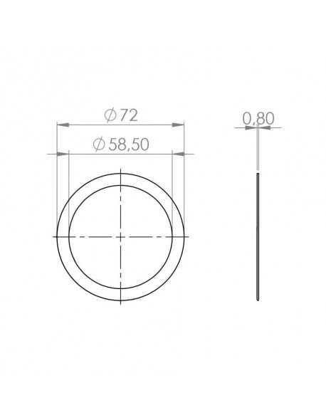 Faema E61 portafilter pakking vuller 73x59x0.8mm